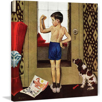Young Charles Atlas Painting Print On Canvas By George Hug