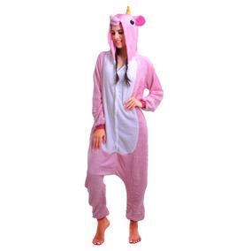 Pijama Unicórnio Macacão De Inverno Com Capuz Adulto
