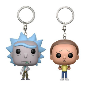 Kit Pop Funko Keychain Chaveiro Rick And Morty Série