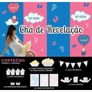 Kit Festa Chá De Revelação Happy Day Festa Em Casa Decoração