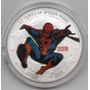 Moneda Spiderman 50 Aniversario 1963-2013 Baño Plata 40mm