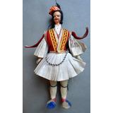 Muñeco Figura Con Traje Típico Griego Grecia