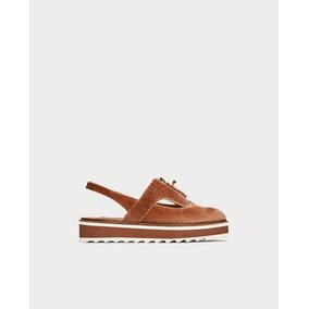 Zapatos Blucher Rosa Terciopelo Destalonados Importados Zara