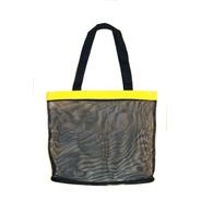 Bolso Cartera De Playa En Transparencia Negro/amarillo