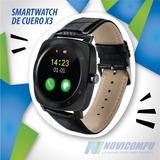 Reloj Smartwatch De Cuero X3, Cámara, Monitor
