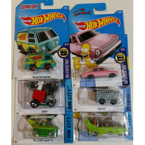 Hot Wheels Lote 6 Snoopy Jetsons Scooby Homer
