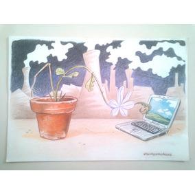 Diseño Ecologico - Ilustracion Original Decoración