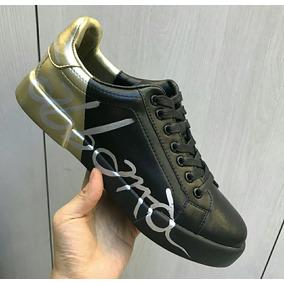 0640f0759fd9e Tênis Dolce   Gabbana Color Block Preto E Dourado (35 - 42) · R  999