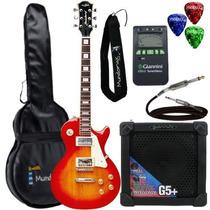 Kit Guitarra Les Paul Clp79 Cherry Strinberg + Cubo + Acess