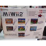 Juego De Video Mi Wii 2 Delux Inalambrico - Tiene 198 Juegos