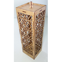 Luminária Em Mdf Cru Md 6 Arabesco 2-decoração-artesanato