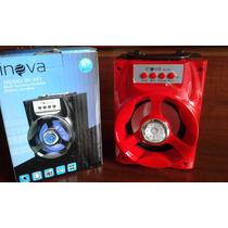 Caixa De Som Bluetooth, Usb, Sd E Rádio Fm Inova In-293