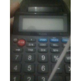 Calculador Elgin , Pilha E Energia Com Impresao