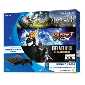 Consola Playstation 4 Ps4 Slim 500gb + 3 Juegos + 3 Ps Plus