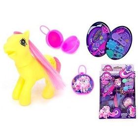 Pequeno Poney Cavalinho Kit Beleza 7peças Brinquedo