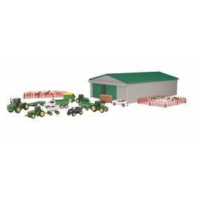 Set 70 Piezas Granja John Deere Vehiculos Tractores Animales