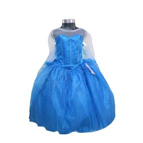 Vestido Disfraz Niña Elsa Frozen Mayoreo Menudeo