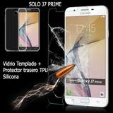 Vidrio Templado + Funda Case Jelly Tpu J7 Prime