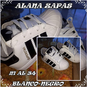 Zapatilla De Niño Blanco/negro Super Star