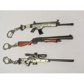 Kit 3 Chaveiros Arma / Picareta - Fortnite - Metal 11,5cm