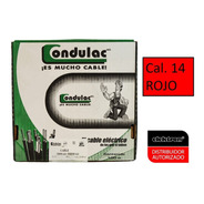 Caja 100 Mts Cable Rojo Thw Cal 14 Awg  100%cobre Condulac