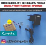 Bateria 4.8v 700mah + Carregador 4.8v (mini Plug)