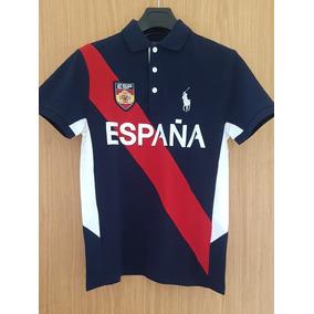 Playera Polo Ralph Lauren Alusiva A España Custom Slim Fit ! a2002414209f6