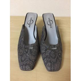 Sapato Tamanco Cinza Dandara Salto 8,5 Cm Nº 38