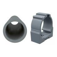 Kit 25pçs Abraçadeira P/tubo Eletroduto 3/4pol Click Cinza