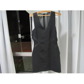 Vestido Zara Tubinho Com Transparência