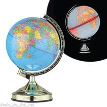Globo Terraqueo Mundo Lampara Touch Mapa Viajeros Luz