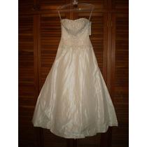 Vestido De Novia Blanco Perlado A Estrenar