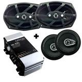 Kit Auto Falante 6 Pol + 6x9 280 Watts + Modulo Tsd 500