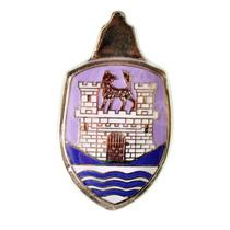 Blazon Emblema Cofre De Vw Sedan Vocho Morado Y Azul