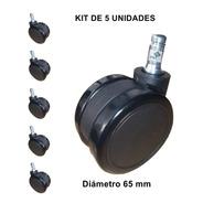 Rodachinas Sillas Goma Diámetro 6.5 Cms (kit De 5 Unidades)