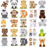 Silhouette Animais Da Floresta Zoo Animal Caixa Box Moldes