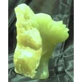 Rostro Mujer - Escultura Talla Piedra Verde Jade Onix 22cm