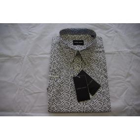 Camisas Sociais Masculina Giorgio Armani Mangá Curta