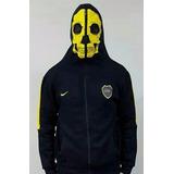 Campera Boca Juniors Ninja Capucha