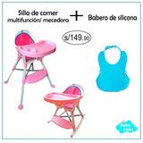 Silla De Comer Para Bebé Multifunción + Babero De Silicona