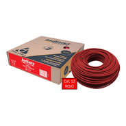 Caja 100 Mts Cable Rojo Thw Cal 12 Awg Indiana 100%cobre