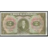 Colombia 2 Pesos 1 Ene 1955 7 Digitos Bgw091