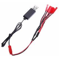 Carregador Jst Bateria Lipo 3,7v 1s + Cabo Conversor 5em1