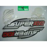 Faixa Adesiva Dafra Super 100 2008 2009 2010 Preta