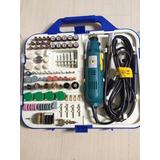 Kit Mini Retifica C/161 Acessórios 110v Com Chicote