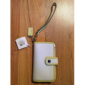 Bolsa Coach Estuche Iphone Case Funda Cartera Piel Fina!!