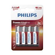 Pilas Aaa Philips Alcalina Blister 4 Unidades Larga Duracion