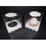 Caja Cupcake Pvc (tipo Acetato) Incluye Zócalo (pack 25 U)
