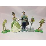 05 Bonecos Princesa Tiane Filme Princesa Sapo Disney Encanta