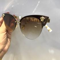 Óculos Versace Novo Estilo Gatinha 2 Cores Pronta Entrega